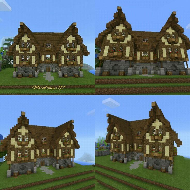 Vistas casa de campo minecraf minecraft minecraftpe - Casas de campo bonitas ...
