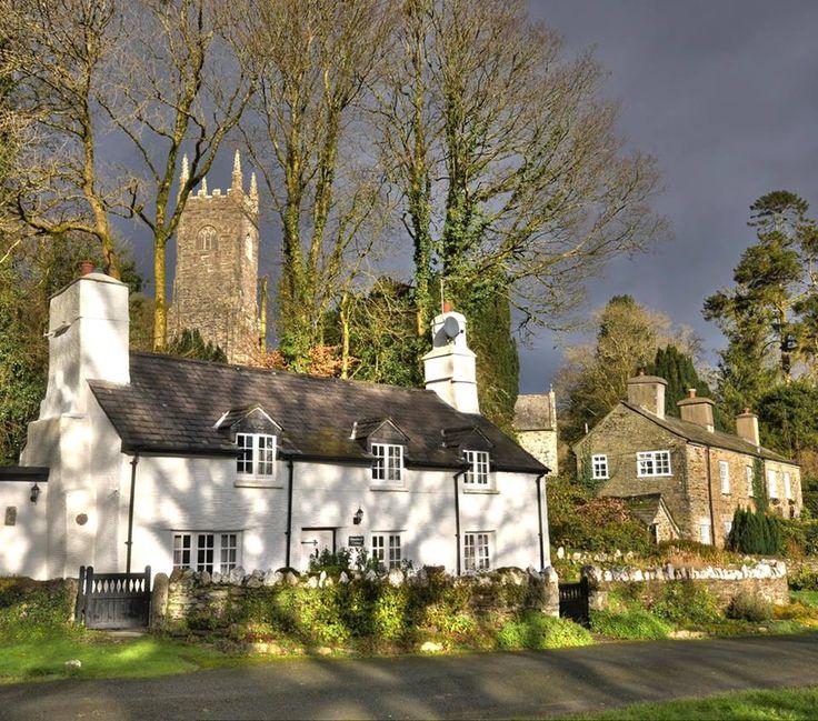 The village of Altarnun, Cornwall, England.