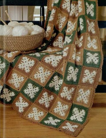 Love the design of this crochet afghan