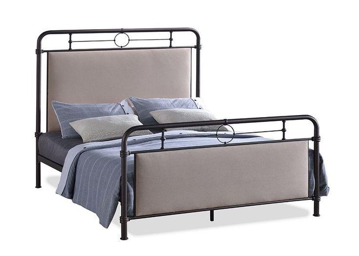 jina queen size metal platform bed panels