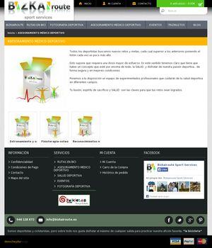 Pagina de la web de Bizkairoute creada por Denocheydia, empresa de diseño web en Bilbao, donde ofrece su servicio de asesoramiento medico.