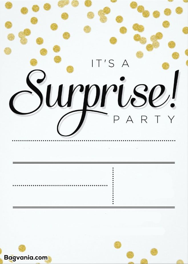 surprise birthday invitation templates