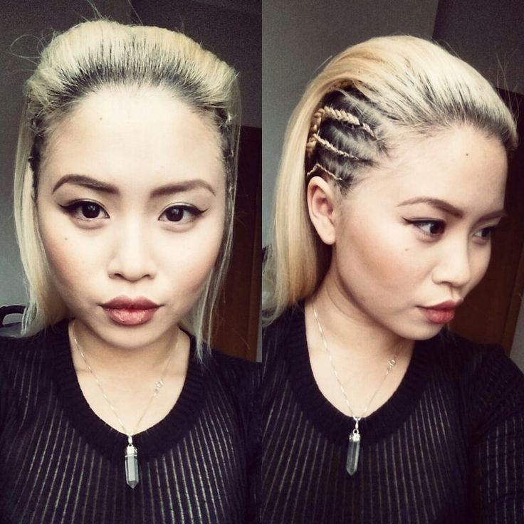 Shorthair - sidebraid - blonde