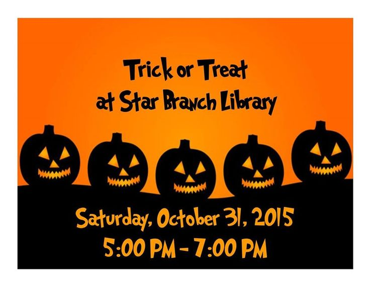 The 59 best library programs images on pinterest library programs trick or treat at our star branch library stopboris Gallery