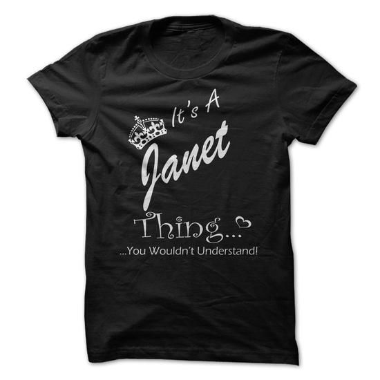 Its A JANET Thing You Wouldnt Understand - #unique gift #mason jar gift. GET YOURS => https://www.sunfrog.com/Names/Its-A-JANET-Thing-You-Wouldnt-Understand-Black-15900149-Ladies.html?68278