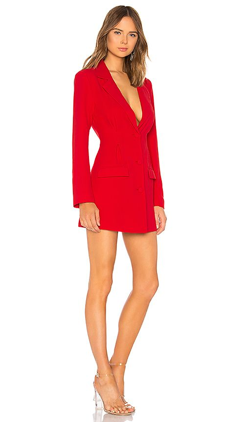 ac9da41f2af x Yovanna Ventura Amanda Blazer Mini Dress in Red