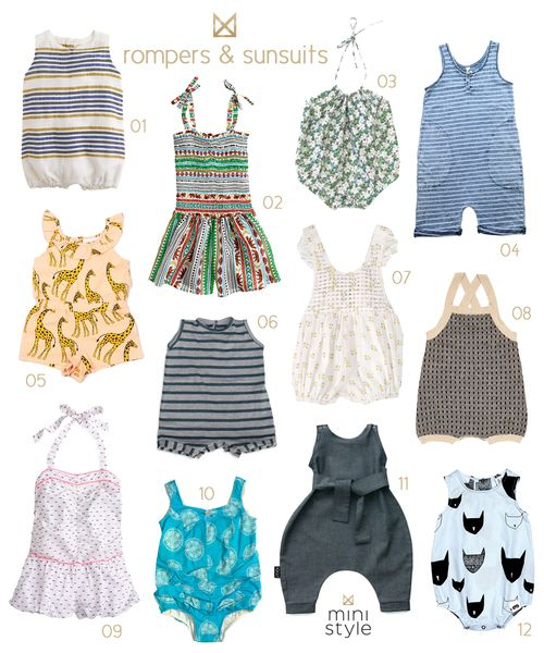 SS14 Rompers & Sunsuits