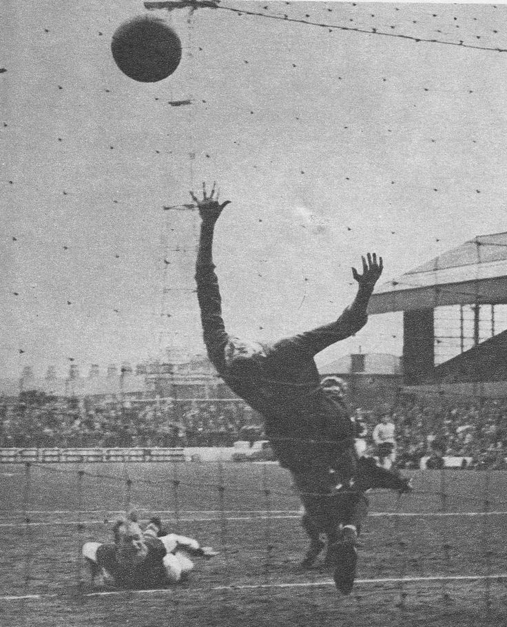 24th April 1965. Burnley centre forward Andy Lochhead scores with a bullet header in a 6-2 victory over Chelsea, at Turf Moor.