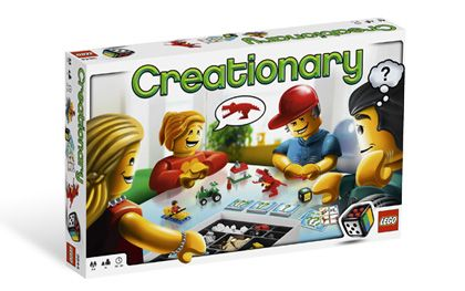 Creationary: You can easily tweak the rules to make this good for all ages. No reading required.
