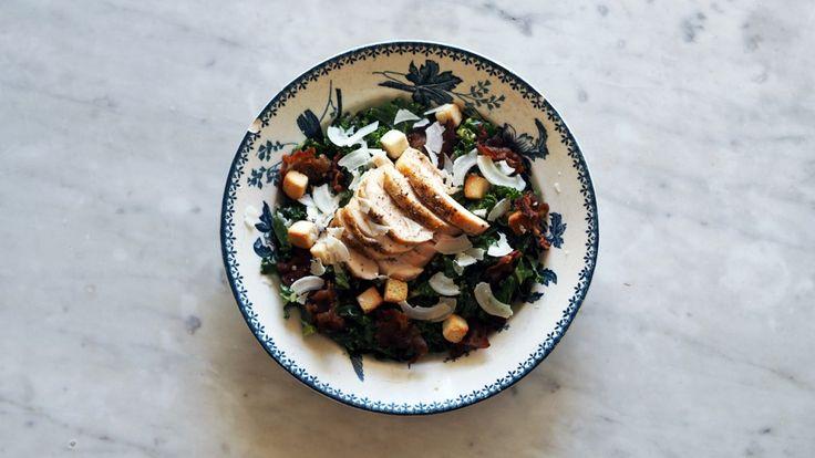 Cæsarsalat med grønnkål