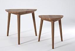 Vintage Tripod Nesting Tables (set of 2) : Ambassador Home