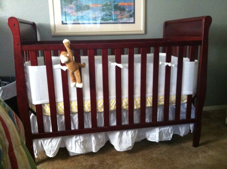 White Mesh Breathable Crib Bumper Walmart Com White Dust