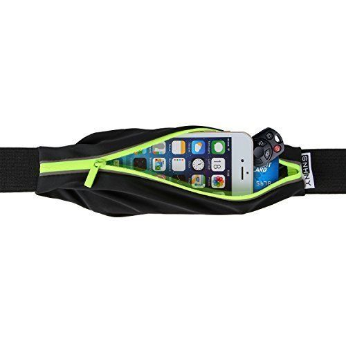 From 7.95:Top Fit Running Belt for Men  Women Holds all IPhones  Accessories Completely Comfortable Running Belt for Trail Running or Hiking. GUARANTEED Best Running Belt Higher Quality Than Competitors. From SNHNY (GREEN)