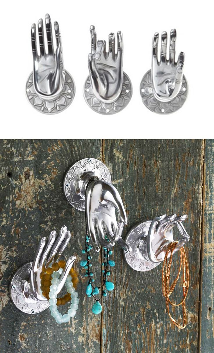 The hand gestures of Buddha have subtle meanings to protect against fear and promote enlightenment. Hang these hand-crafted hands up on your own wall to protect your home and create stylish accents. The set includes The Hand of Reason, The Fearless Hand, and The Hand of Wisdom.