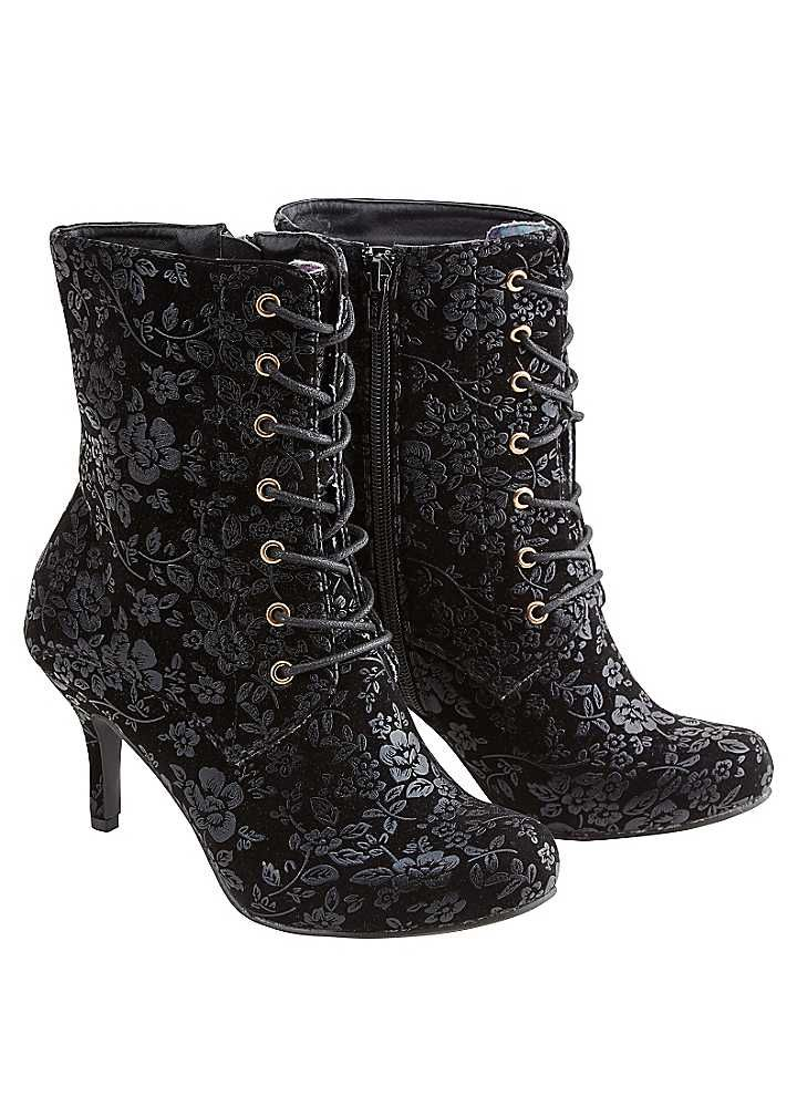 Joe Browns Floral Embossed Ankle Boots