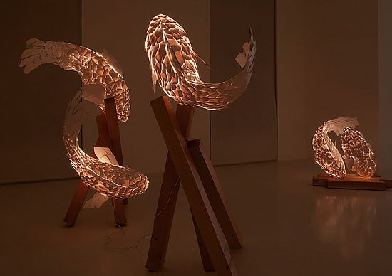 FRANK GEHRY | Fish Lamps | Beautiful installation °°
