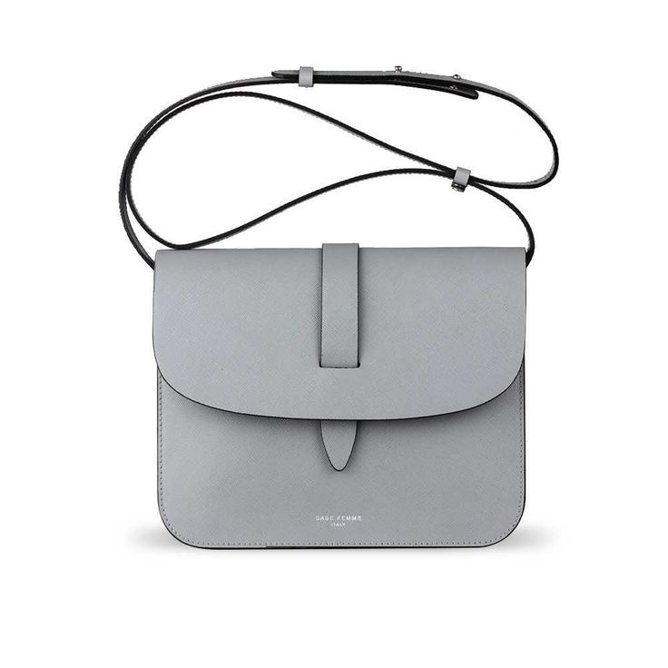 LIGHT GREY CROSS-BODY - Sage Femme Italy