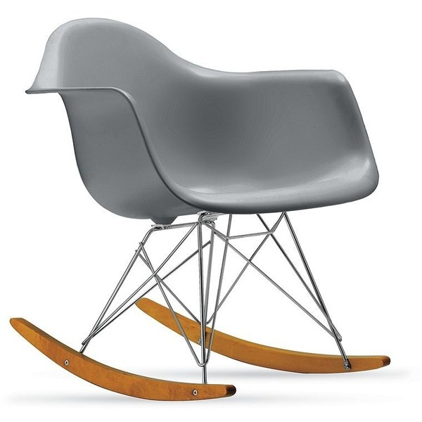 Charles and Ray Eames Eames® Molded Plastic Rocker (RAR) ($499) ❤ liked on Polyvore