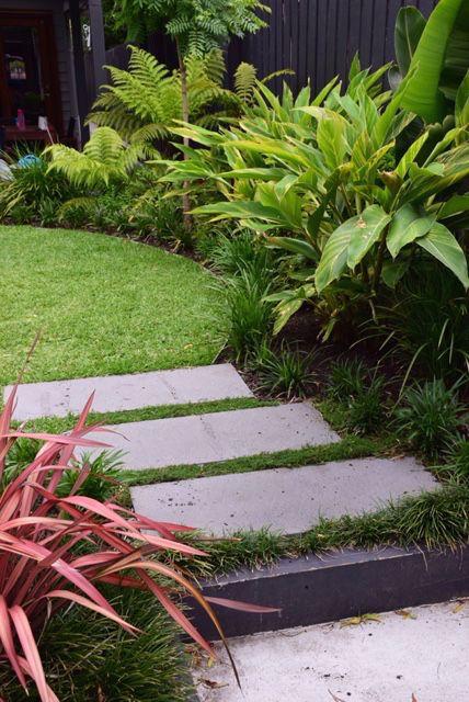 Botanical Space - Landscape Design & Construction - Melbourne  - Australia - Bali in Northcote - Tropical Inspired Garden - Bluestone Pavers