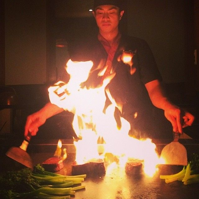 Shiki Chef in action at the Teppanyaki