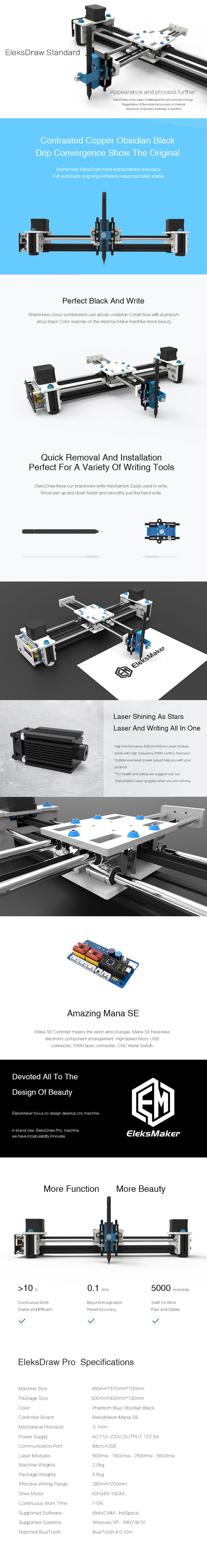 EleksMaker® EleksDraw XY Plotter Federzeichnung Maschine