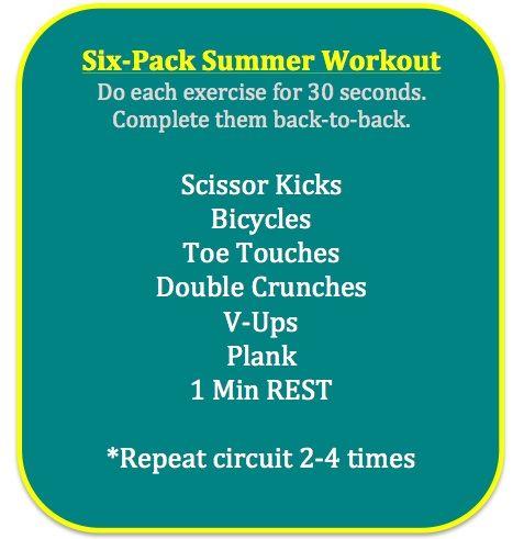 Six Pack Summer Abs  Via @FoodFitandFam