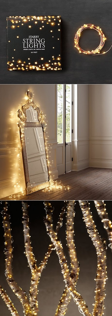 beautiful : Starry String Lights-- Jenna, these were the ones I was trying to explain! In place of candles?