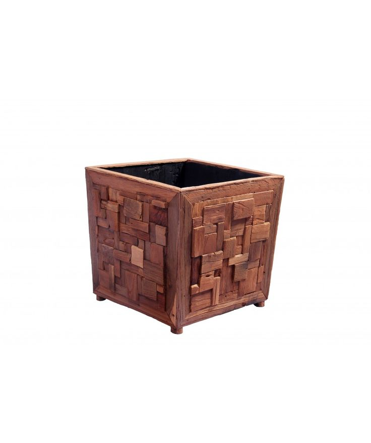 Square Teak Box | Home Office Furniture - Easterly