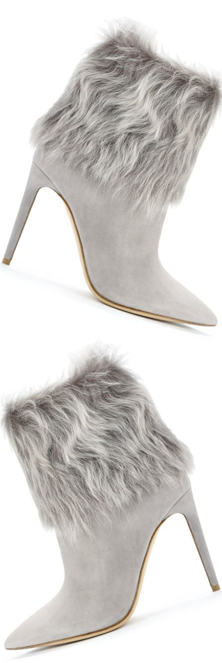 Ralph Lauren Collection Shearling-Cuff Tania Bootie (embellished shearling cuff and pointed toe) LOOKandLOVEwithLOLO: Ralph Lauren Fall 2014 Accessories