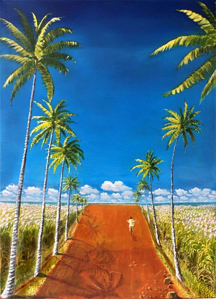 Follow that road through the sugar cane fields until your eyes meet the ocean. Clear day afternoon, that boy celebrates life.