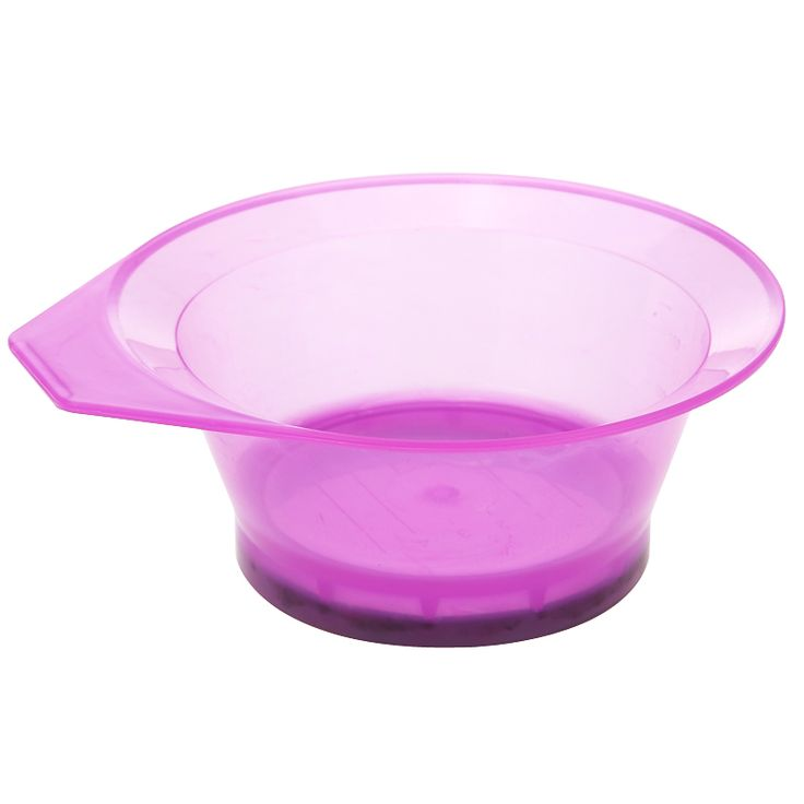 Clear Purple Tint Coloring Dye Plastic Bowls Oil Hair Mask Bowls Salon Care Essential Hairdressing Styling Tool Dye Mixing Bowl