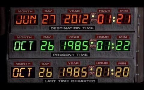 Welcome to the future. Today's the originating date Doc had set on his Delorean time machine! - I'm thinking Back to the Future Marathon tonight.: Geek, Film, Flying Cars, For The Future, Scoreboard, Movies, Marty Mcfly, Doc Sets, Back To The Future