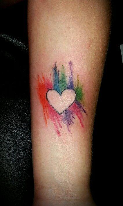 Corazon tattoo watercolor tattoo