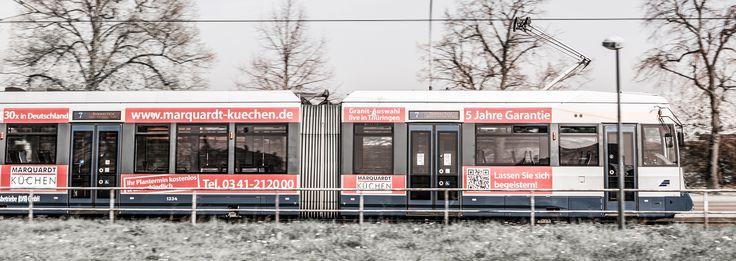 Marquardt Küchen Strassenbahn in Leipzig :)