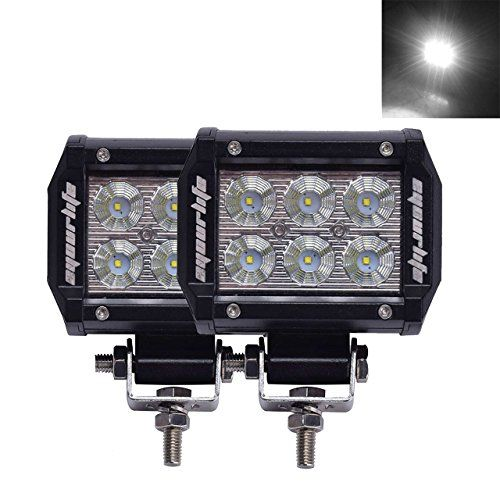 Eyourlife 18w Led Work Light Cree Led 4x4 Off Road Light Bar Pair 4 inch SUV Driving Headlight Pods Flood - http://www.caraccessoriesonlinemarket.com/eyourlife-18w-led-work-light-cree-led-4x4-off-road-light-bar-pair-4-inch-suv-driving-headlight-pods-flood/  #CREE, #Driving, #Eyourlife, #Flood, #Headlight, #Inch, #Light, #Pair, #Pods, #ROAD, #Work #Lighting, #Replacement-Parts