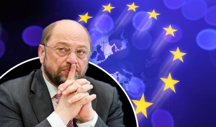 """OUTGOING European Parliament president Martin Schulz claims Brussels is still mourning Britain's historic decision to quit Brussels and admits the crumbling bloc is """"treading water"""" as it fails to face up to populist movements across Europe."""