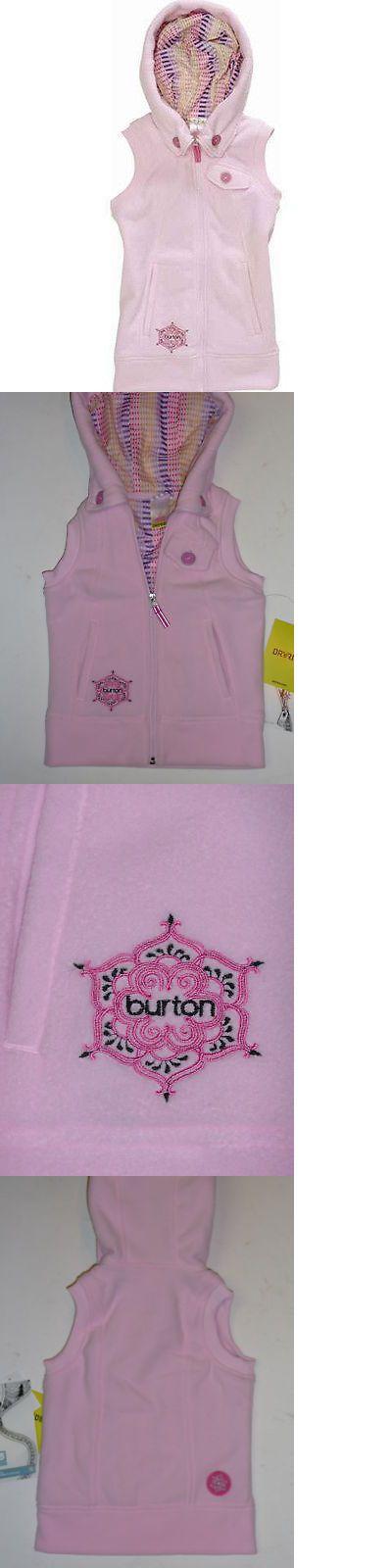 Vests 179012: Burton Starrlight Fleece Vest Jacket Girls Xl Juniors Womens S Pink BUY IT NOW ONLY: $67.51