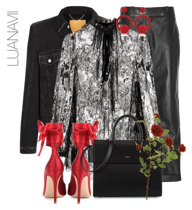 """Untitled #936"" by luanavii ❤ liked on Polyvore featuring Balenciaga, Haider Ackermann, Alexander McQueen, Gianvito Rossi, Rebecca de Ravenel and Givenchy"