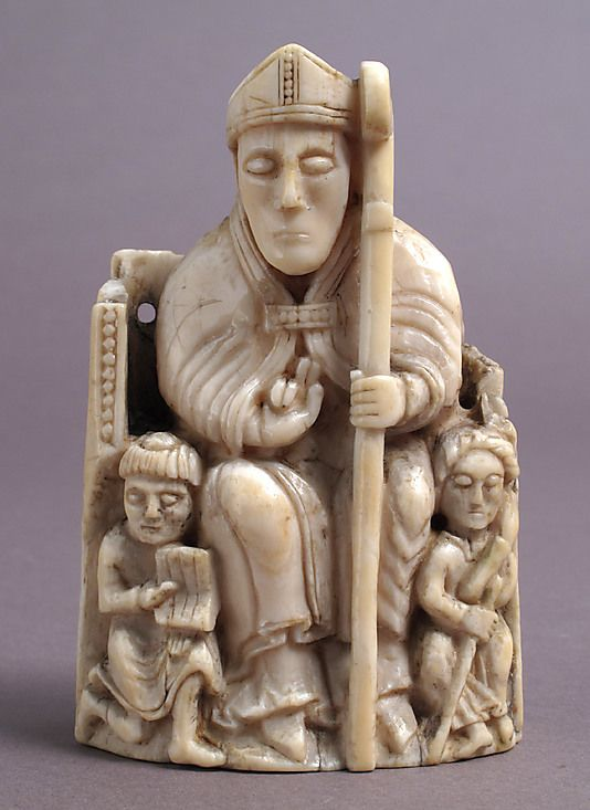 Chess Piece in the Form of a Bishop with Two Attendants  Date: 1150–1200 Geography: Made in, probably Trondheim, Norway Culture: Scandinavian