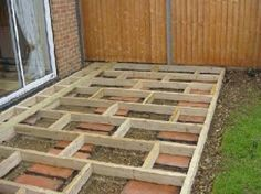 how to build deck over grass
