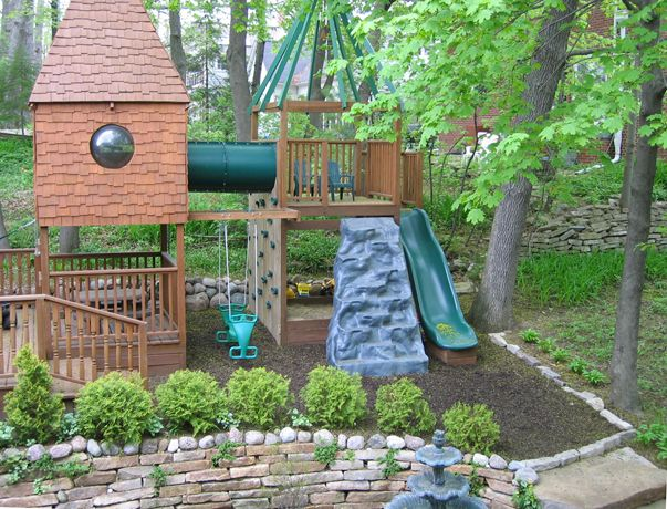 sandbox combined with swingset area or keep seperate