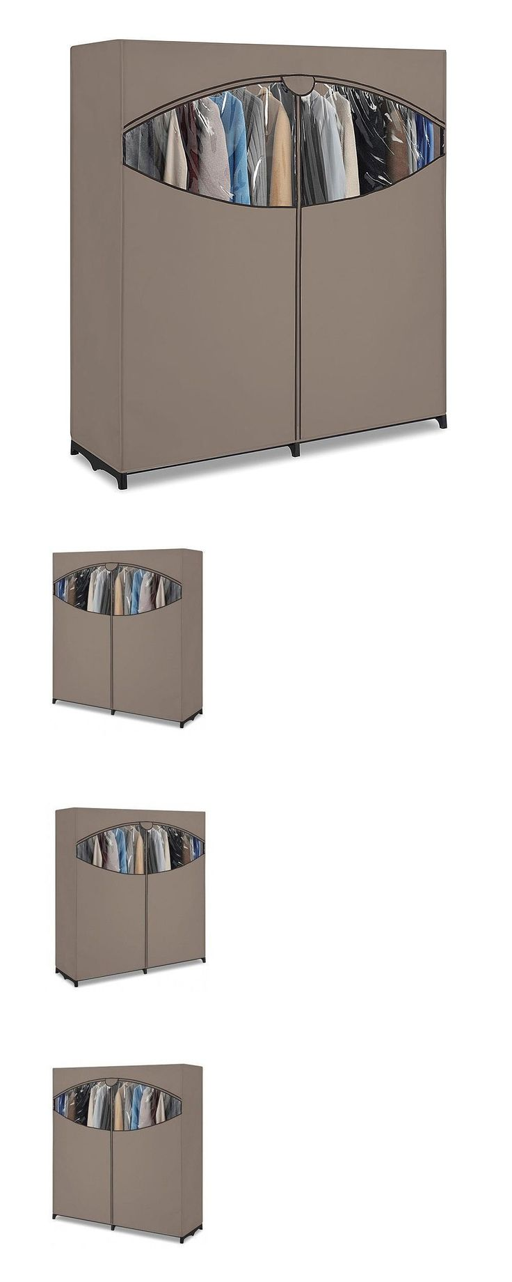 household items: Portable Wardrobe Clothes Closet Storage Bedroom Organizer Rack Furniture Shelf -> BUY IT NOW ONLY: $39.15 on eBay!