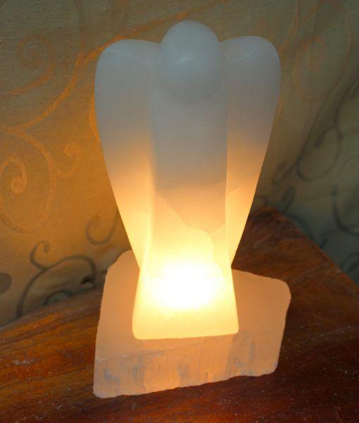 Selenite Angel Lamp