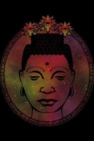 Gautama Buddha Portrait Galaxy