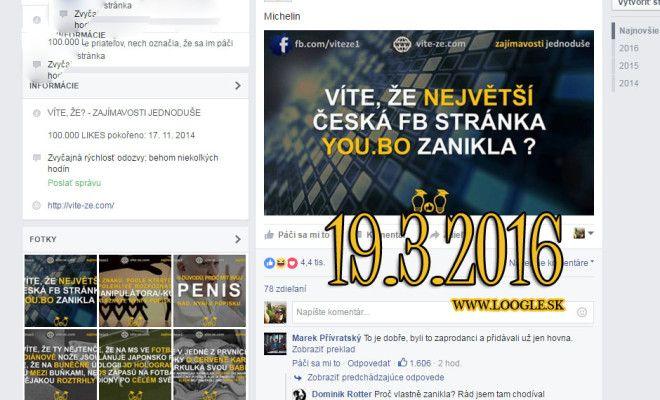 Populárna česká Facebook stránka YOU.BO bola údajne oficiálne zmazaná!!!.