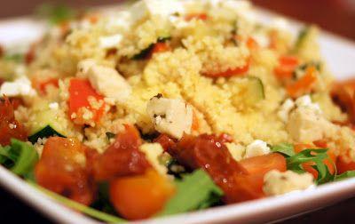 Gewoon wat een studentje 's avonds eet: Couscous met restjes