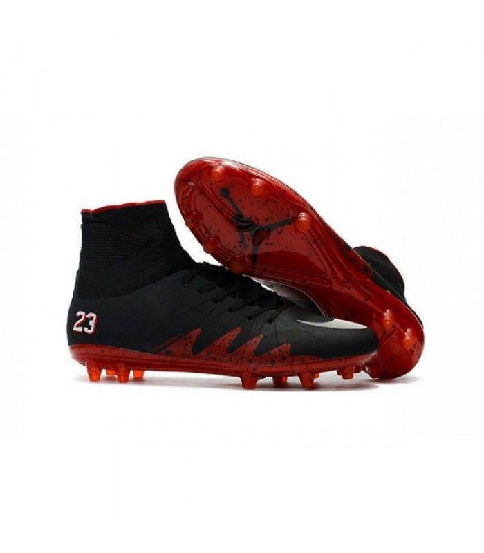Acheter Nike HyperVenom Phantom 2 FG Chaussures de football Jordan Noir Rouge Blanc pas cher en ligne 123,00€ sur http://cramponsdefootdiscount.com