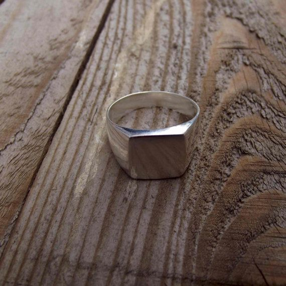 925 sterling silver men ring square signet men by silveringjewelry