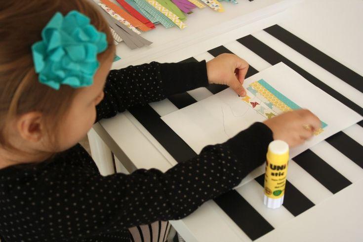 Paper Strip Handprint Art {& Keepsake} - Mama.Papa.Bubba.