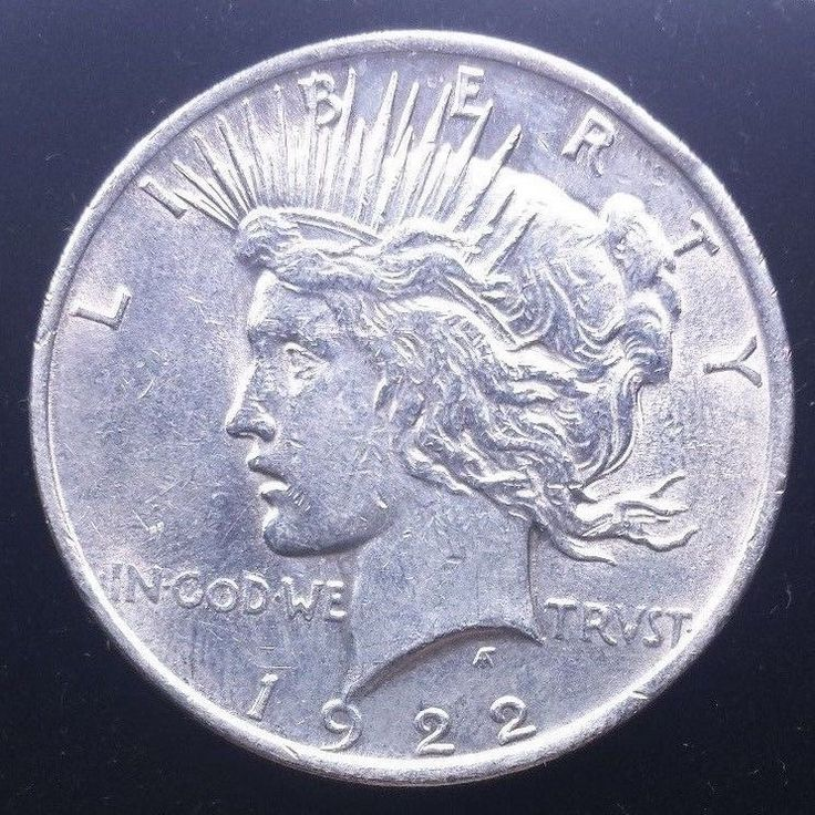 1922 d Silver Peace Dollar Coin Full of Detail American Cash Currency argent